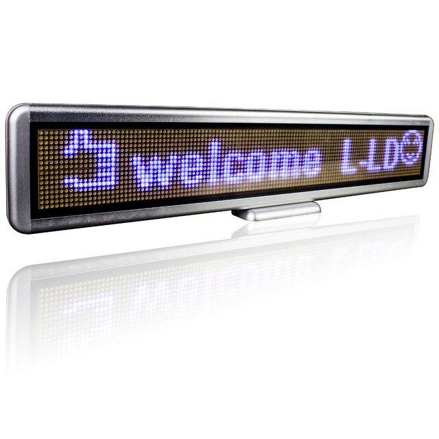 22x4 дюймов светодиодный дисплей Портативный Аккумуляторная Синий Usb Программируемое Перемещение Сообщения Светодиодный Бизнес Вывеска для Рекламы Событий