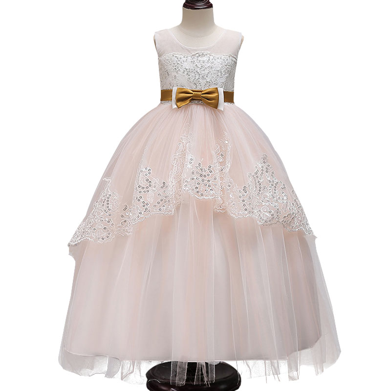 Evening Wedding Dress Girl Party Dress First Communion Dresses For Girls Ball Gown For Girls Children Clothing Baby Costume