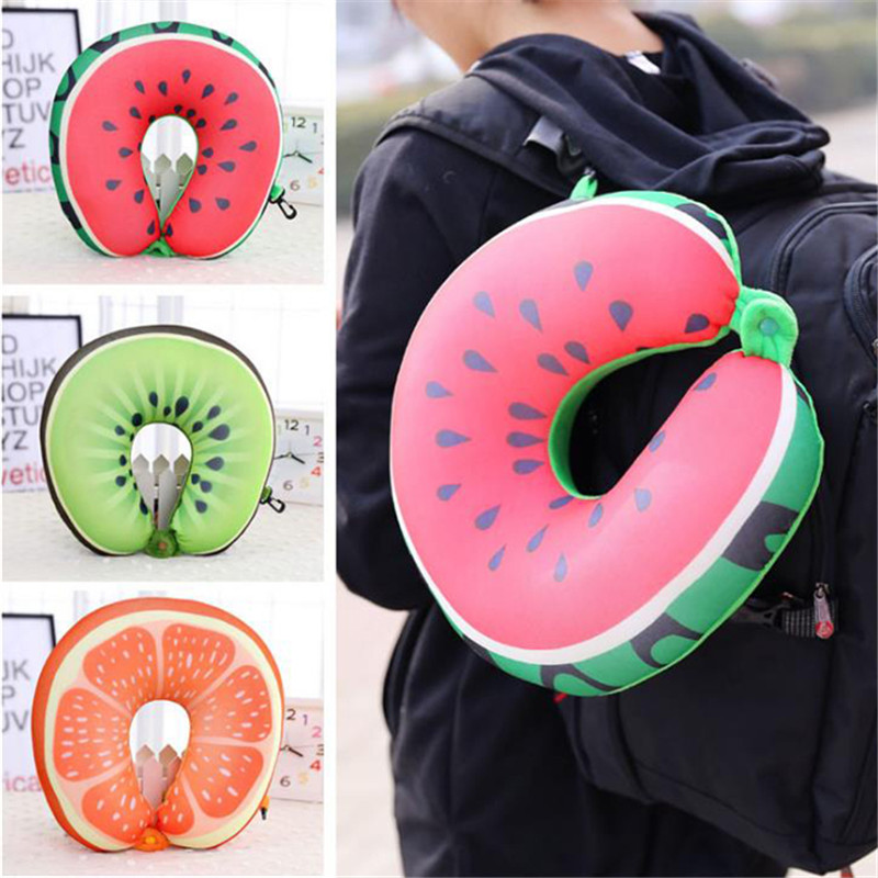 Fruit Nanoparticles Neck Pillow Car/airplane Headrest Cushion Nursing/travel Pillow Ej885854 Hanging Baskets U-shaped Office Nap Pillow