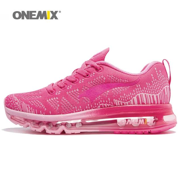 ONEMIX женские спортивные кроссовки Леди обувь для ходьбы воздухопроницаемой сеткой женские athletic обувь размер ЕС 36-40 бесплатная доставка