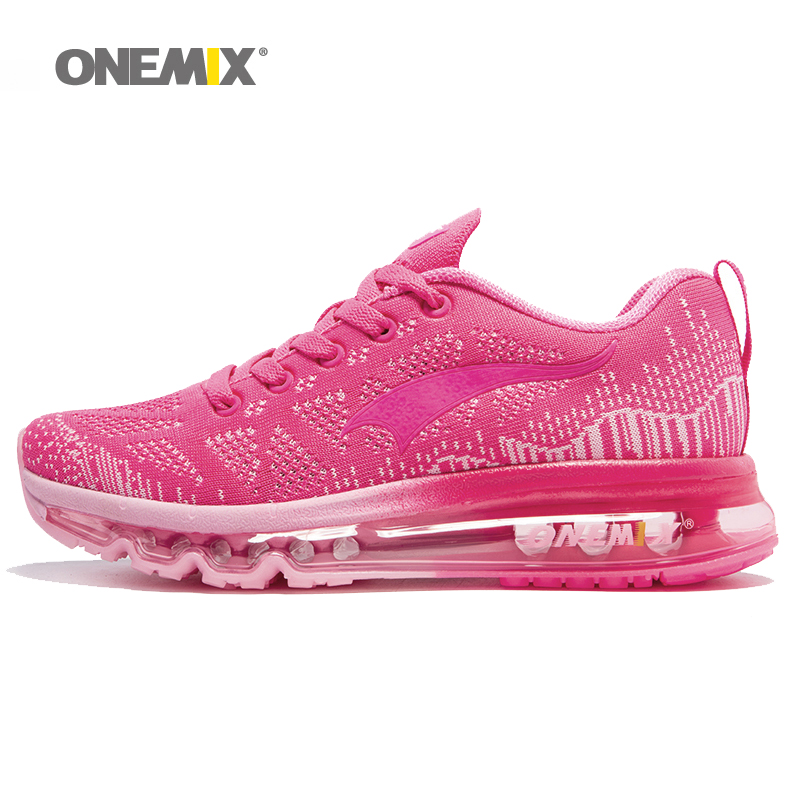 ONEMIX women's sport running shoes Lady walking shoes breathable mesh women's athletic shoes size EU 36-40 free shipping 2017brand sport mesh men running shoes athletic sneakers air breath increased within zapatillas deportivas trainers couple shoes