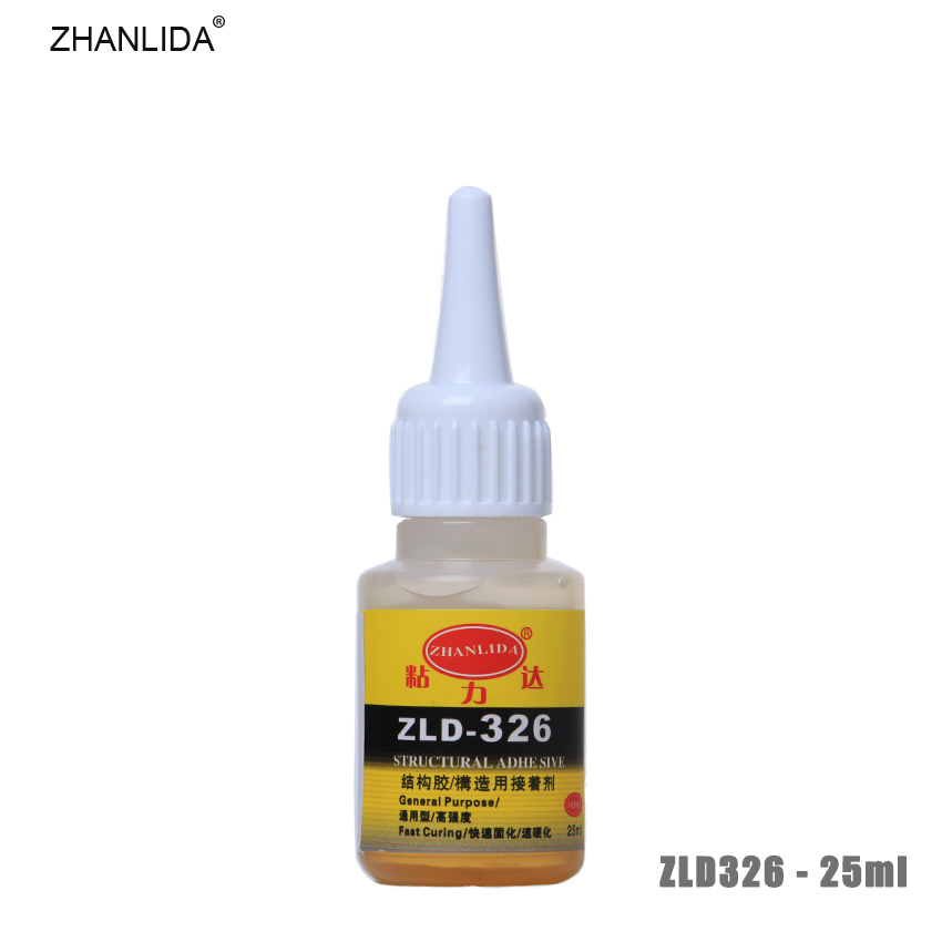 ZHANLIDA 326 25ml Structural Adhesive High Strength Glue Rubber Steel Metal Plastic Wood Bonding Glue