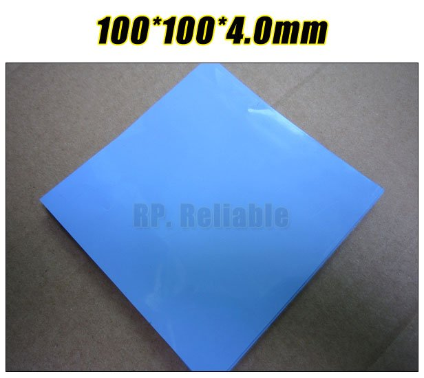100mm*100mm*4.0mm Soft Silicone Thermal Pad /Thermal Pads /Thermal Cooling for Heatsink /Chipset /Chip /IC /VRAM /LED Blue 100 100 4 5mm soft silicone thermal pad thermal pads for heatsink chipset led gap insulation sealing lower vibration