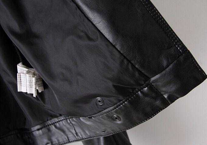 1f299237fc55 US $65.0 |Winter Women coat fashion star Fan Bingbing same paragraph  pamphlets double oblique zipper jacket Slim PU leather shorts tide di Kulit  & ...
