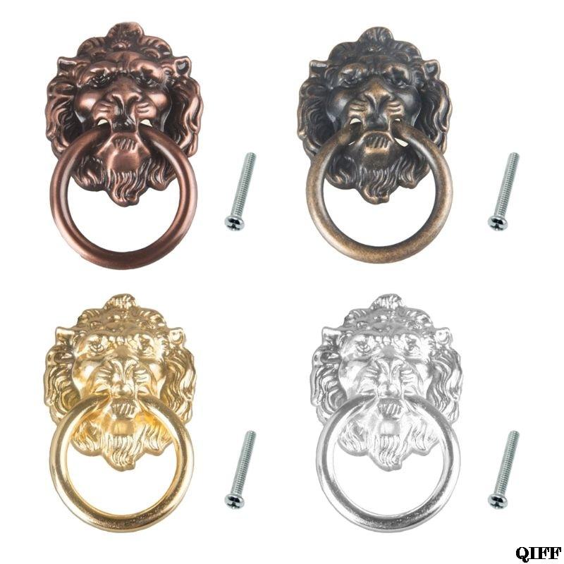 Drawers Antique Style Decorative Lion Head Design Chest Knob Pull Handle