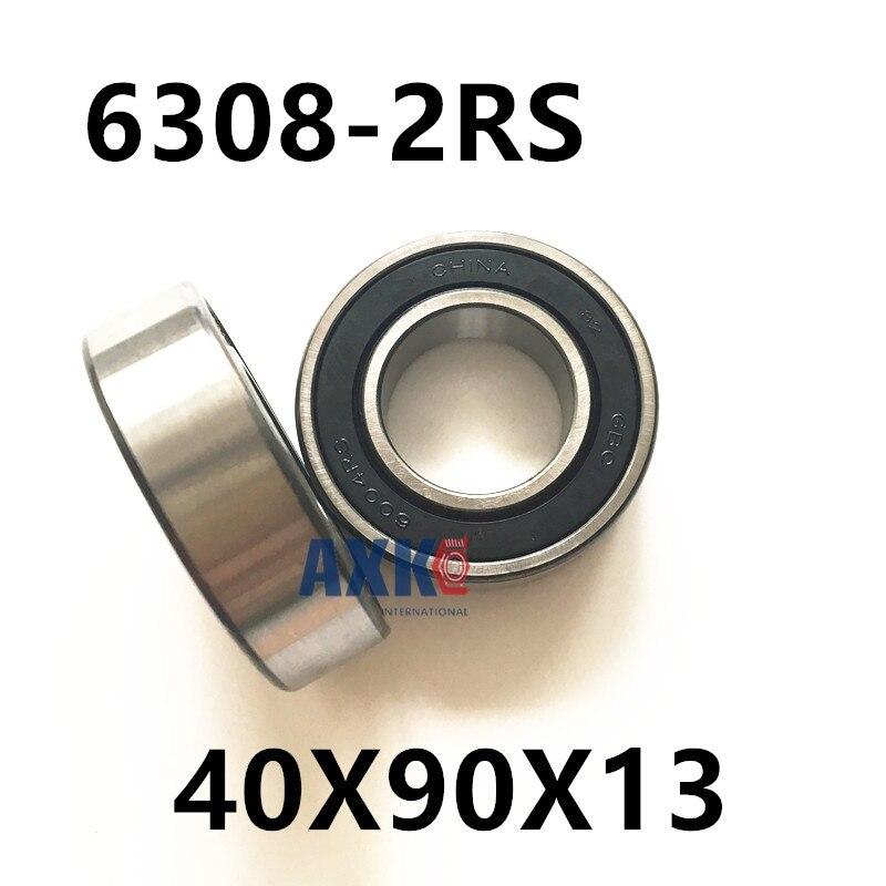Free Shipping high quality deep groove ball bearing 6308 2rs 2z / 6308zz bearings 40X90X13 mm free shipping 2pcs v625 90 v625zz v groove deep groove ball bearing 5x16x5mm pulley bearing