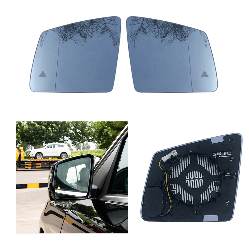 Replacement Heated Blind Spot Warning Wing Rear Mirror Glass For Mercedes Benz GL ML GLE Class