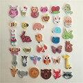50 unids botones de álbum de recortes botones de madera mezcla Animal abeja búho erizo oso perro elefante cabeza botones coser Accessories5-40mm