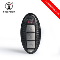 Carbon Fiber Key Cover for Nissan For Infiniti For GTR EX FX G25 G37 FX35 EX25 EX35 FX37 EX37 Q60 QX50 QX70 3 4 Button smart key