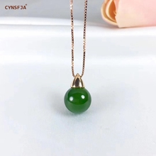 Certified Natural Hetian Jade Jasper Inlaid With 18K Gold Lucky Pendant Hand Carved High Quality S925 Necklace Best Gifts