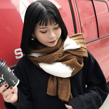 2019 New Winter Warm Scarves for Women Patchwork Color Soft Kitted thick Scarfs Girls Ladies Shawl Cashmere