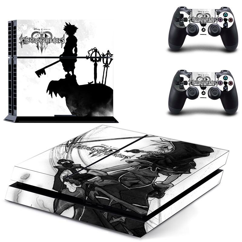 US $7 51 6% OFF|Game Kingdom Hearts PS4 Skin Sticker Decal For Sony  PlayStation 4 Console and 2 Controllers PS4 Skin Sticker Vinyl-in Stickers  from