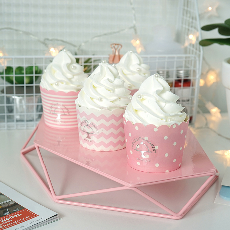 Cute Simulation Cup Ice Cream Exquisite Artificial Cup Cake Romantic Wedding Decoration Photo Prop Cake Shop Window Display