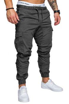 Casual men's harem pants Spring autumn Drawstring elastic waist Joggers trousers Homme Cargo Pants male hip hop Sweatpants