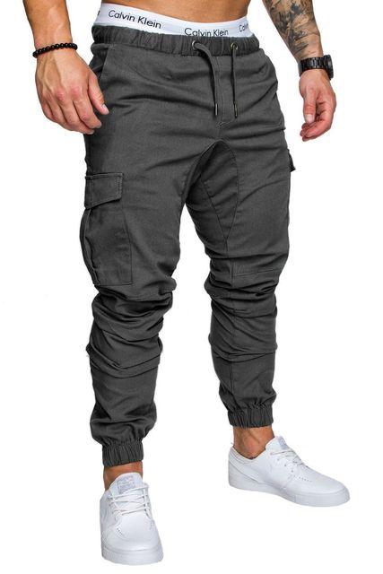 Casual men's harem pants Spring autumn Drawstring elastic waist Joggers trousers Homme Cargo Pants male hip hop Sweatpants 1