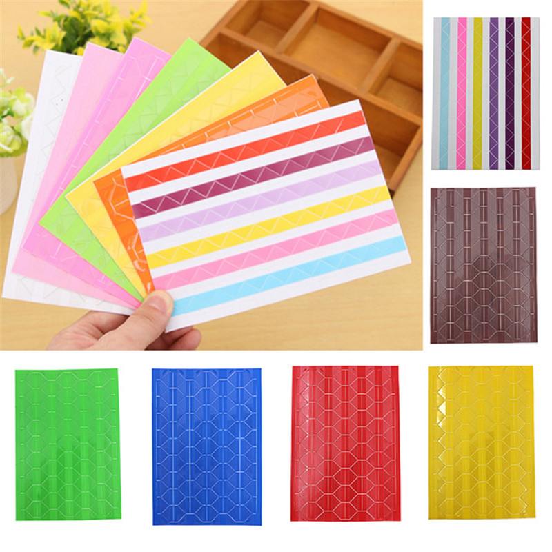 2019 DIY Photo Album Scrapbook Corner Sticker PVC Colorful Paper Corner Stickers Frame Picture Decoration 1Sheet in Photo Albums from Home Garden