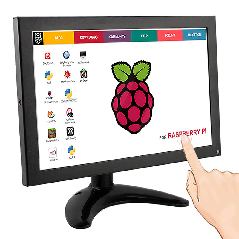 Elecrow Raspberry Pi 3 Display Touch Screen 10.1 Inch IPS LCD 1280x800 FULL HD Monitor TFT HDMI VGA AV Built in Speaker for FPV
