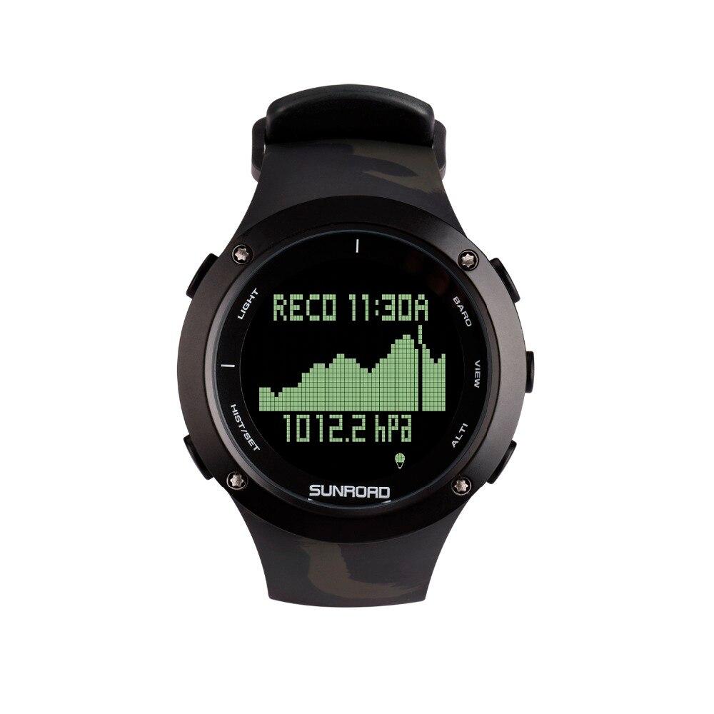 SUNROAD nouvelle plongée étanche numérique Sport hommes montre-bracelet avec altimètre baromètre boussole chronomètre podomètre