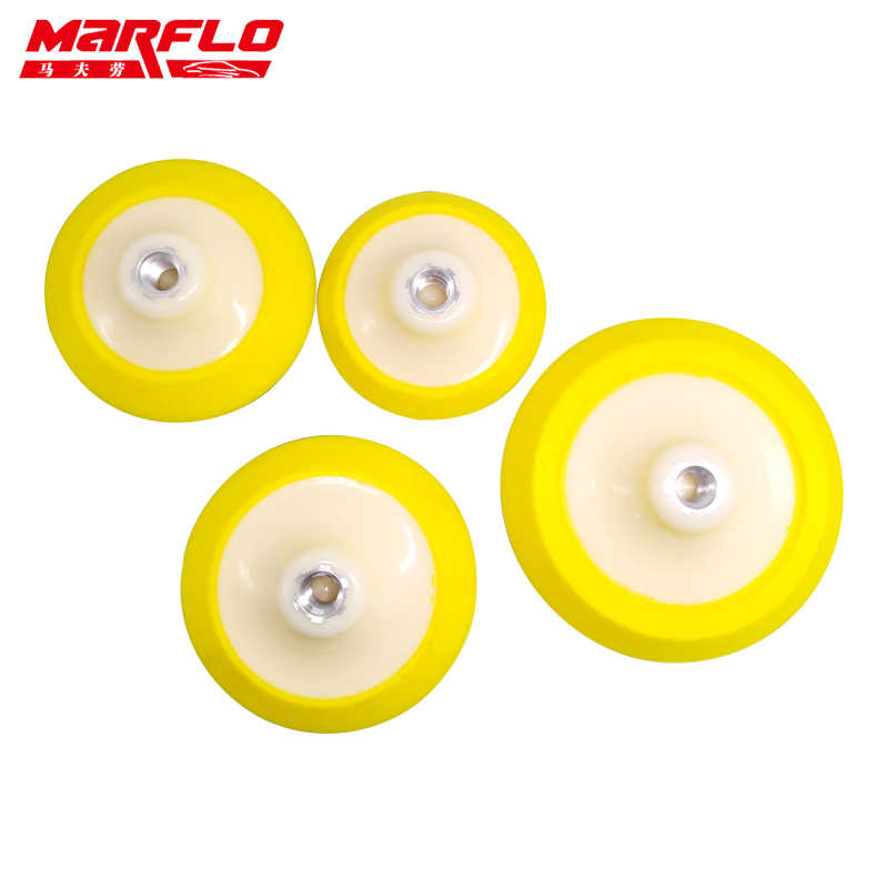 "Marflo Plate Backing Pad for M14 Polisher with Polishing Sponge Pad 4"" 4.5"" 5"" 6""  Hook Loop Backing Pad"