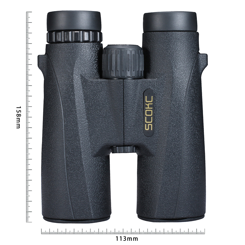 SCOKC 10X42 Compact Binoculars for Bird Watching HD Military Telescope for Hunting and Travel with strap High Clear Vision Black 2017 new arrival all optical hd waterproof fmc film monocular telescope 10x42 binoculars for outdoor travel hunting