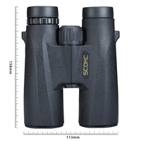 SCOKC 10X42 Compact Binoculars for Bird Watching HD Military Telescope for Hunting and Travel with strap High Clear Vision Black 10x42 binoculars binoculars travel binoculars hunting military -