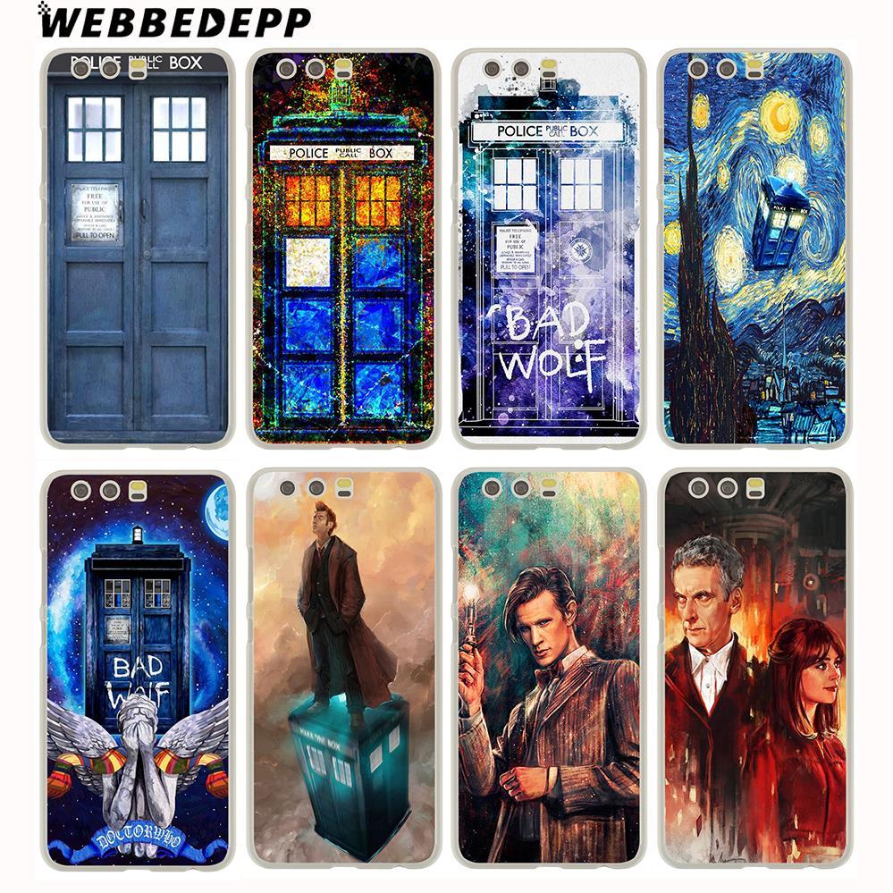 WEBBEDEPP Tardis Box Doctor Who Hard Case for Huawei P20 Pro Smart P10 P9 Lite 2016/2017 P8 Lite 2015/2017