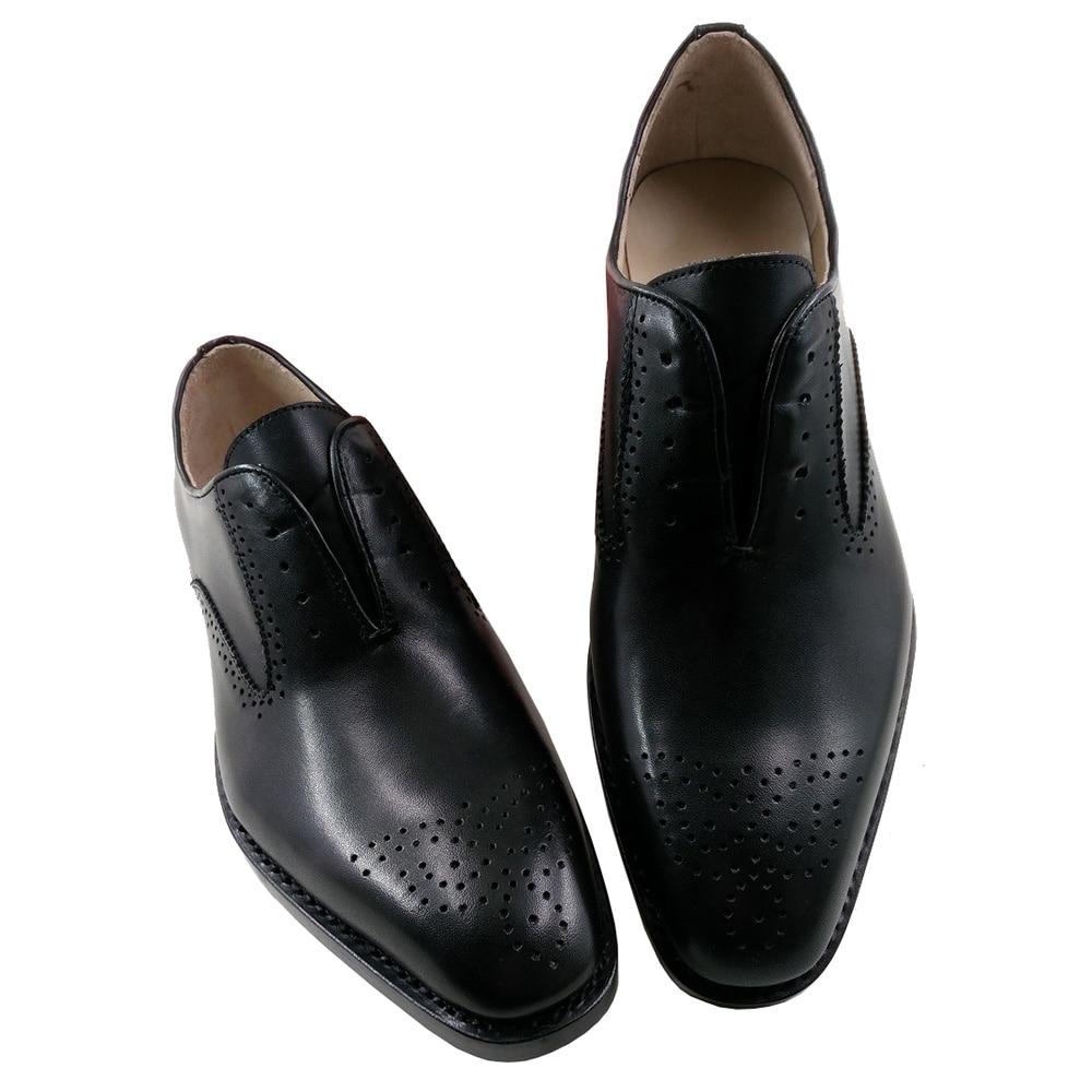 Terno Couro Brogue Preto Sapatos Dos 10 De Vestido Genuíno Goodyear Gents Retro Welted 44 Bezerro Sola Homens Oxfords Sipriks fqwZxFtdF