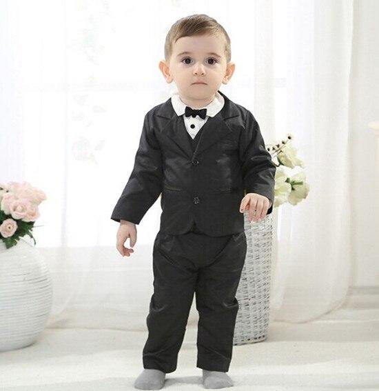 ФОТО 2015 Baby Blazer Set Boys Wedding Formal Blazers Long Sleeve 2-4y Children Blazer+Pants+ Blouser+Vest for Wedding Clothing EB005