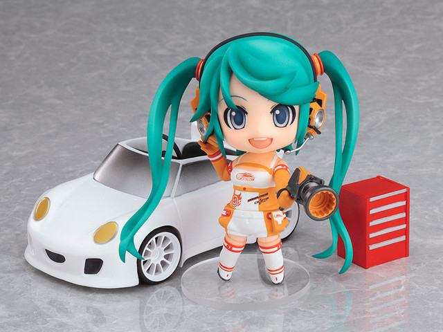 10cm Hatsune Miku Racing Anime Collectible Action Figure PVC toys for christmas gift with retail box free shipping