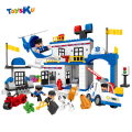 City Police Station Series Big Building Blcoks Toy Educational Assembly Toys For Children Compatible With legoe