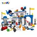 Delegacia de Polícia da cidade Série Big Blcoks construção Toy Assembléia Brinquedos Educativos Para Crianças Compatíveis Com legoe