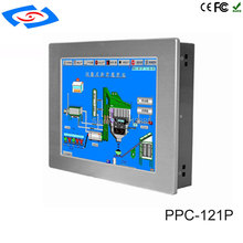 Nuovo fanless 12.1 pollice con 2 * LAN touch screen Panel PC Industriale