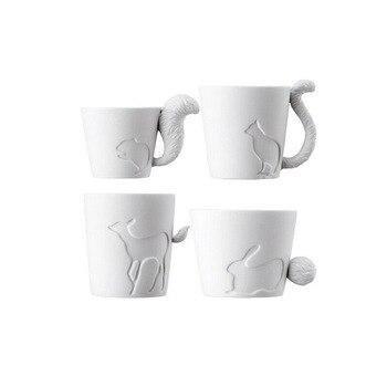 ญี่ปุ่นKintoแท้แสงเทียนเชิงเทียนบรรเทาป่าสัตว์รูปร่างแก้วเซรามิกกระดูกจีนแก้วกาแฟพืชหม้อ