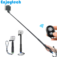 Metal 29.5-102cm Selfie Stick With Phone Clip Bluetooth Remote For Iphone Xiaomi Android Phones Monopod For Gopro Action Cameras flexible octopus monopod goose neck for gopro cameras selfie stick with phone holder for iphone xiaomi huawei samsung phones