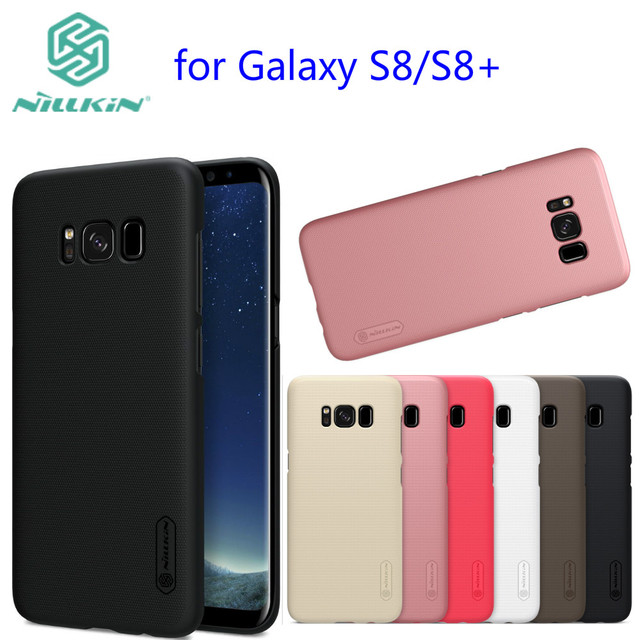 new style 1466c f8a68 US $7.19 5% OFF|For Samsung Galaxy S8 case cover NILLKIN Super Frosted  Shield Hard Back Cover case For Galaxy S8 plus S8+-in Fitted Cases from ...