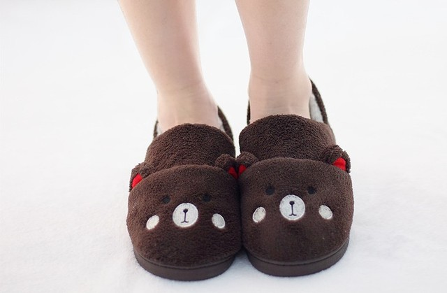 ff7c96aa71a7 Panda Slippers Girls Cartoon House Shoes Winter Foot Warmer Indoor Cotton  Footwear 3 Types 2 Size Fit EUR 37-40 US 6.5-9