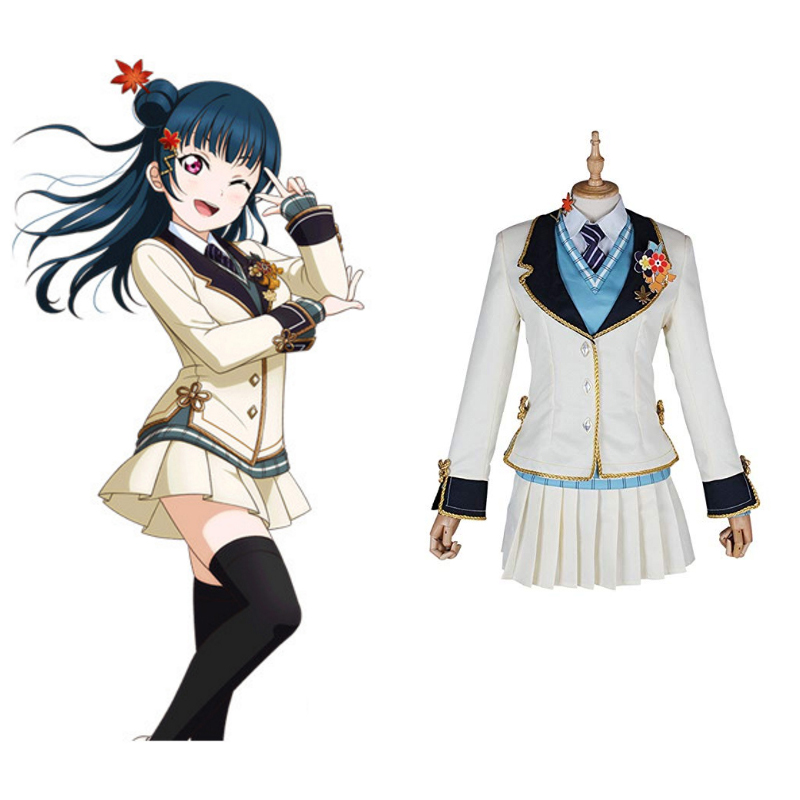 Love Live Sunshine Cosplay Tsushima Yoshiko Cosplay Costumes Uniform Outfit Anime Cosplay Costume Halloween Carnival Cosplay