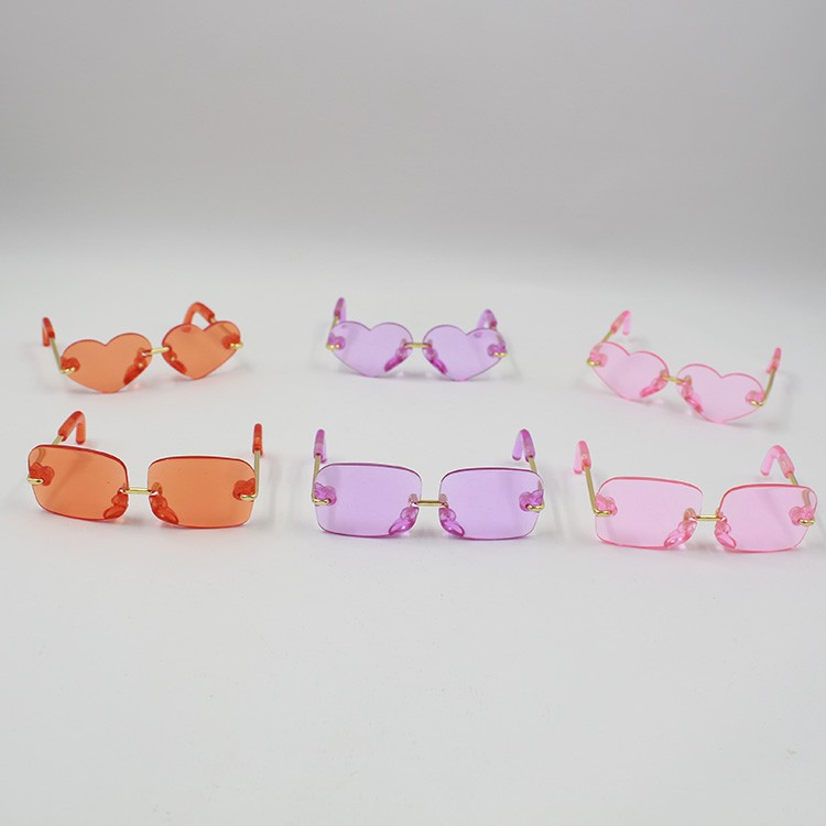 Neo Blythe Doll Heart & Boxes Shaped Glasses 2