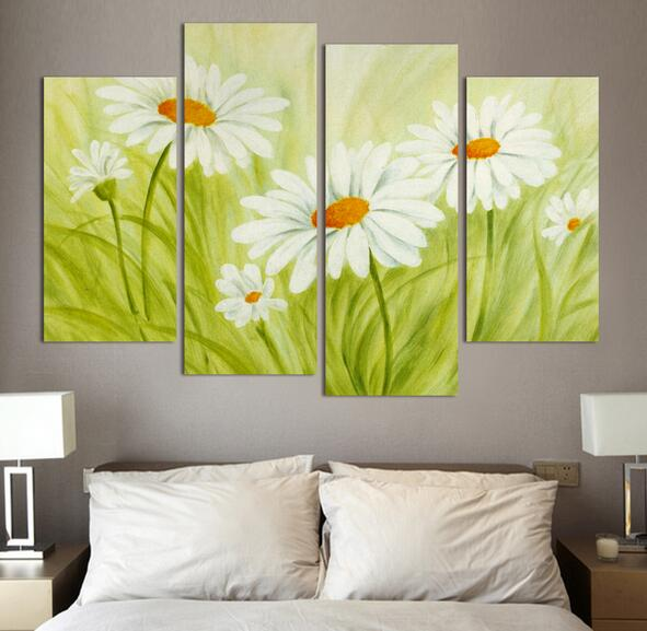 4 Square Free Shipping Art Canvas Painting Home Decor Digital Photos Wall Stickers Flower Oil