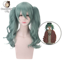 VOCALOID Hatsune Miku Long Wavy Green Ponytail Wig Cosplay Costume Sunano Wakusei Heat Resistant Synthetic Hair Wigs For Women недорого