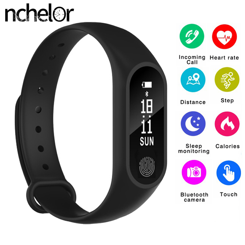 NEW Smart Fitness Tracker Band Pedometer Heart Rate Monitor Watch Waterproof Anti-lost Smart Bluetooth Bracelet for Android IOS