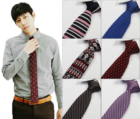 Mans Woolen Knitted Tie 17 Styles 2015 New Fashion Leisure Jacquard