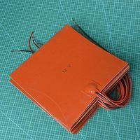 Reprap 3D Printer Accessories Silicone Rubber Heating Plate Mat 12V 150W Square Silicone Rubber Heater Mat