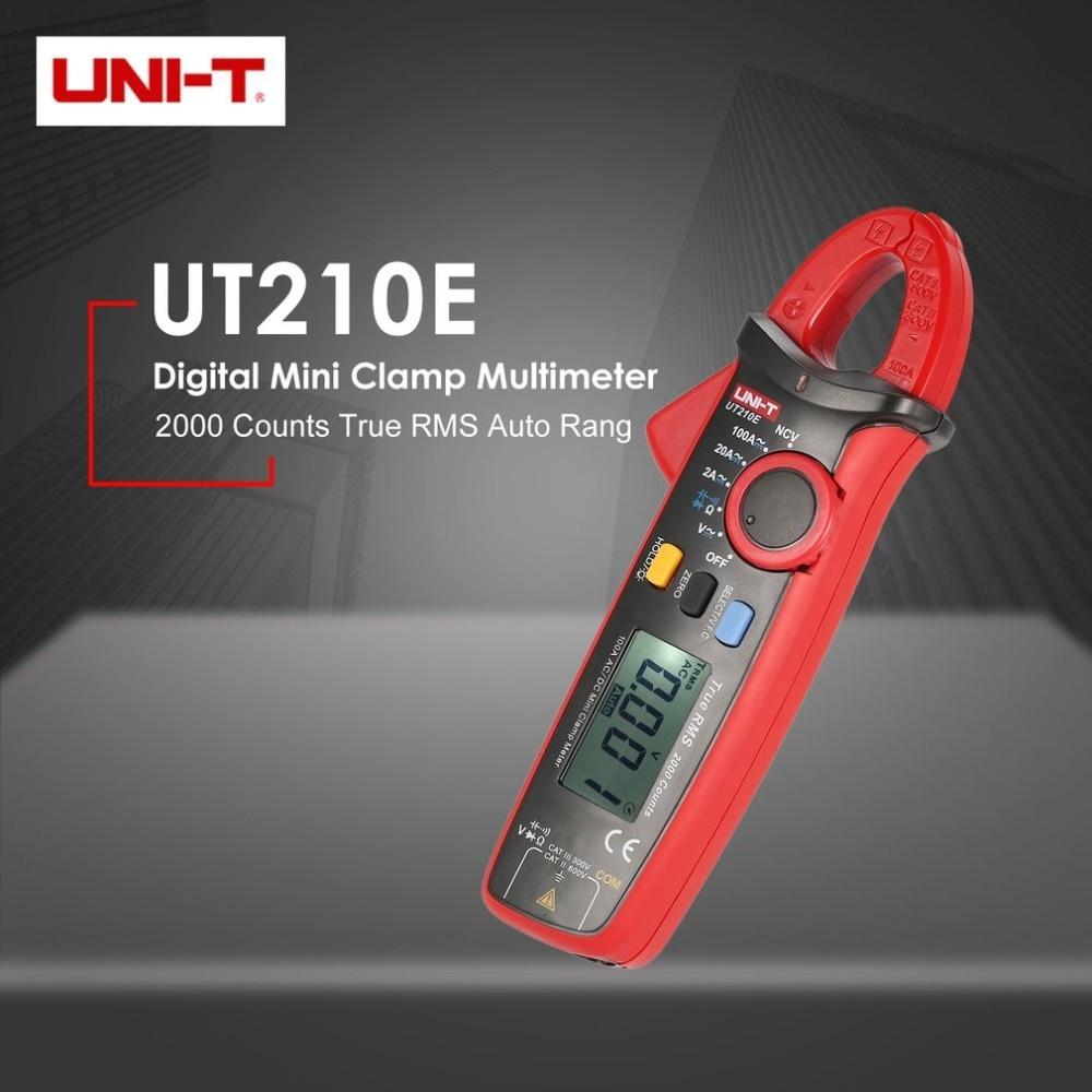 UNI-T UT210E Mini 2000 Counts True RMS Digital Handheld Clamp Multimeter Volmeter Auto Range DC/AC Voltage Current NCV VFC цена