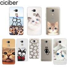 ciciber Coque For BQ Aquaris C U2 U X5 V VS X2 X Lite Pro Plus E5 s E4.5 M5 M5.5 M4.5 Back Cover Soft TPU Phone Cases Animal Cat