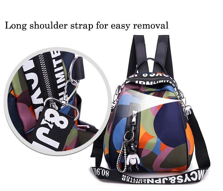HTB1EADQaIfrK1Rjy1Xdq6yemFXaS 2019 new ladies bear pendant Multifunction backpack high quality youth color backpack girl casual large capacity Bags for women