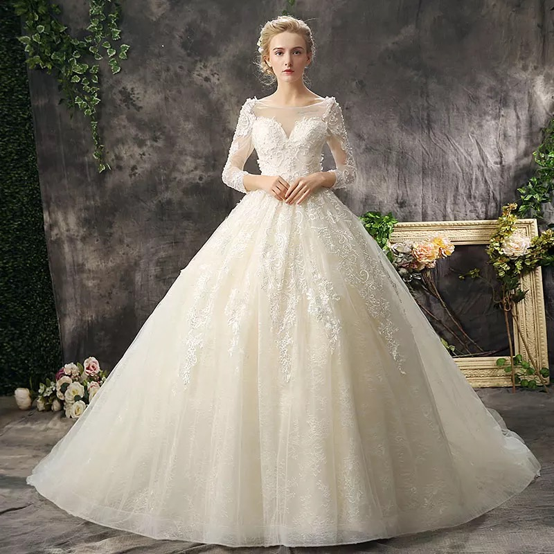 Champagne Ball Gown Wedding Dresses: Aliexpress.com : Buy 2017 New Wedding Dress Lace Up