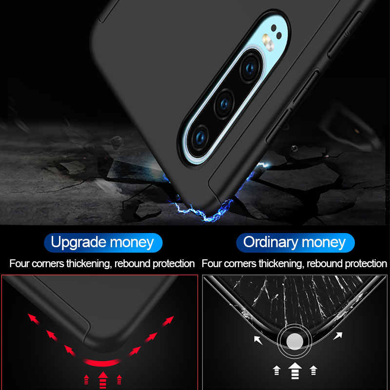 360 Degrees Full Shockproof Case For Huawei Y9prime 2019 P smart Z Shell Hard PC Cover Cases For Huawei P20 P30 lite Phone Case