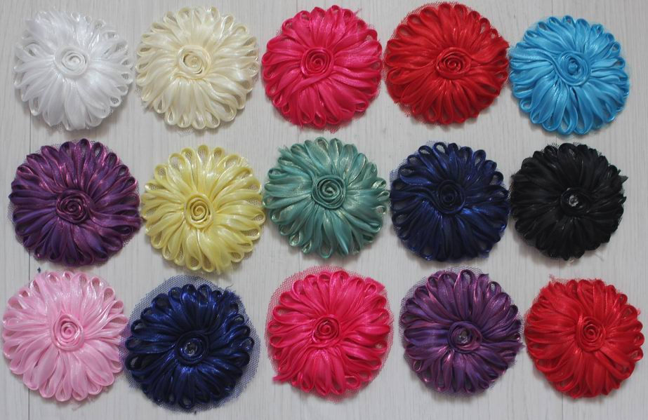Hospitable 120pcs 2.5 Inch Polyester Tulle Mesh Fabric Flowers For Girls Headbands,fabric Flower For Kids Hair Accessories,hair Bow Flowers To Assure Years Of Trouble-Free Service Girl's Accessories