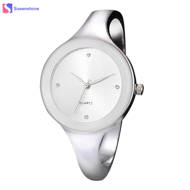 Luxury Women Stainless Steel Alloy Watch Simple Style Ladies Round Analog Quartz